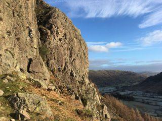 A wonderful winter day.  Sound advice...  Raven Crag- Langdale. Mendes et al.