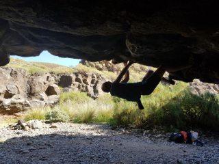 First bouldering zone at El Poris
