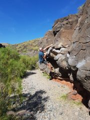 Bouldering at El Poris