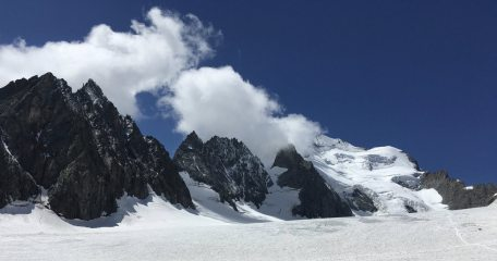 Barre des Ecrins from the Glacier Blanc