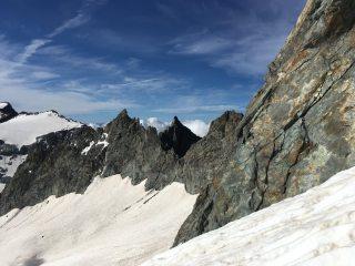 Pointes des Cineastes - from the Glacier du Monetier