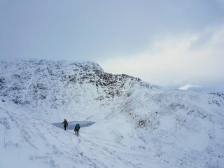 The approach to Sharp Edge before the bad weather hit