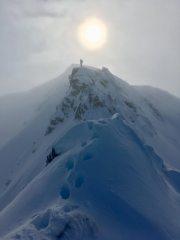 One axe fun on the North Ridge of Aonach Air Chrith