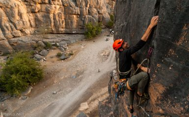 Luca on the final section of