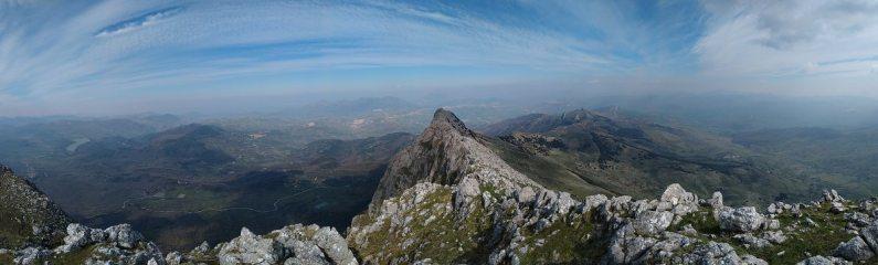 Wide view of the Rocca Busambra scramble