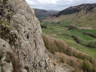 Unknown climbers at Raven Crag (Langdale)