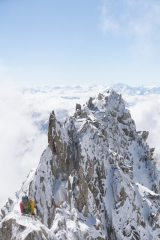 Winter conditions on a deserted Entreves Traverse
