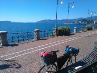 On route from Venezia to Genova, by bike