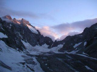 The Glacier Noir at night fall.