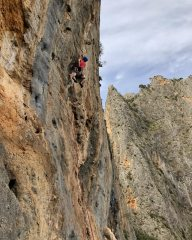 Me facing a very British style of bolting at Sa Gubia in Mallorca