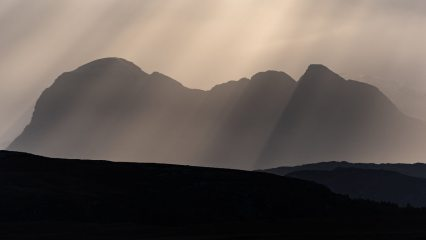 Crepuscular light over Suilven