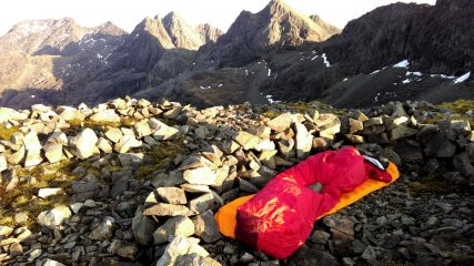 Midway bivi on the Cuillin Ridge, Skye.
