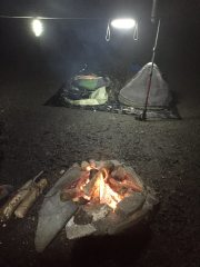 Wild camp at cathedral cavern