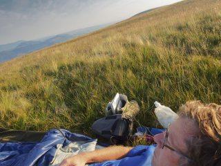 Summer bivi on top of Loadpot Hill