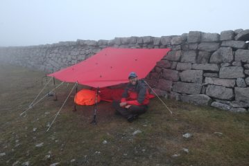 Making use of the Mourne Wall in the clouds.