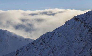 George and self on ENE ridge, taken from N ridge by Sal