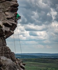 Unknown climber on Flying Buttress Direct