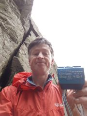 Torque nut found at birthplace of English climbing, Napes Needle.