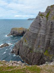 First ascent of An Bronntanas E2 4a,4c,5a Glaneragh Co Kerry