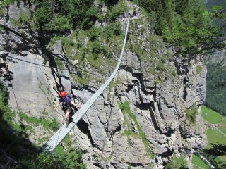 Final Suspension bridge on Muren via Ferrata.