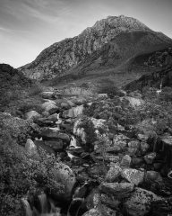 Ogwen Falls, with Tryfan in the background.