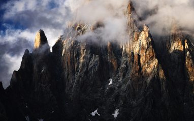 Clouds rolling over the western flanks of the Aiguille Verte, 742 kb