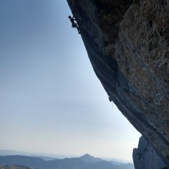 Céüse showing it's steep side