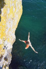 Taking the plunge from Arapiles, Oh Arapiles.