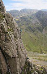 On the crux pitch of Abbey Buttress, 338 kb