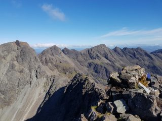 Taking on the Inn Pin Free Solo on the Ascent and Descent , The Cuillins ridge first visit for a count of 7 Munros