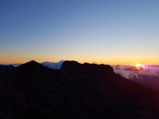 Cuillins ridge sunrise from my bivvy out on Sgurr Nan Eag