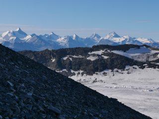 Looking south over the Glacier de la Plaine Morte to Canton Valais