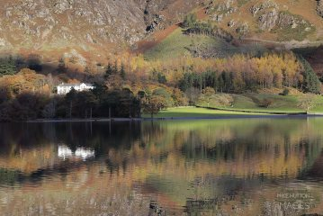 Buttermere reflections late afternoon in the Lake District