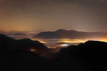 Night time inversion shot from Dale Head.