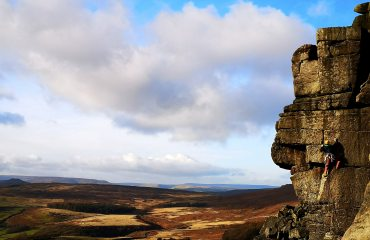 Stanage in January. Unknown not feeling fingers on Eliminator