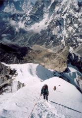 Approaching the summit of Lobuche E