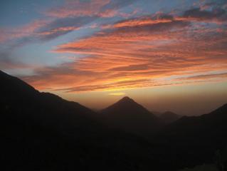 sunset from tacheddirt, high atlas