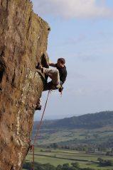Richard chucking on a heel on Farndale Fayre E5 6b, 277 kb