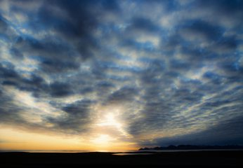Midnight sun, Engelskbukta, Svalbard, 707 kb