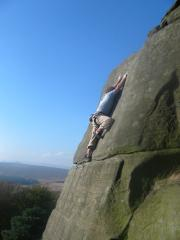 Rhys huws posing for the camera, on telli E36a stanage plantation, secons before the whopper!!!