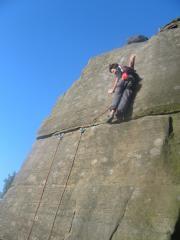 Ioan doyle on the crux of telli  E3 6a