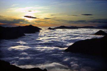Sunrise over the Grey Corries, from Sgurr a'Mhaim