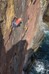 Ian Taylor on 2nd ascent of The Fracture Clinic., 408 kb