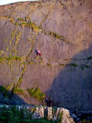 Simon Young, first ascent of Odd as the sun was setting., 767 kb