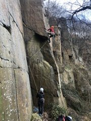 Sheltering from winter storms at Rivelin Quarry , 594 kb