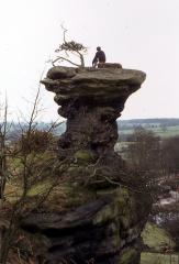 On Peakstone Rock - one of Staffordshire's most sought after summits