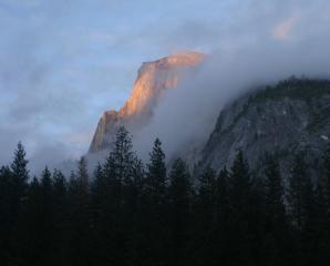 Suns last kiss - Half Dome, Yosemite