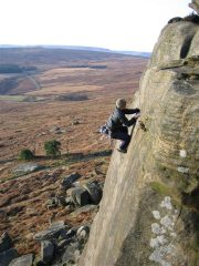 Rich Malcolm running it out on Tower Face direct.