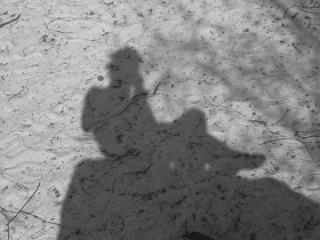 Shadow - sat on a rock somewhere at font