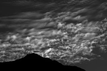 Evening cloud formations above Nant Peris, North Wales.